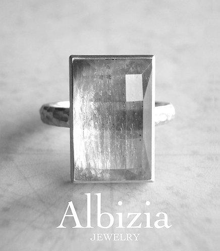 【抽選販売申込】Al-3033R カイヤナイト+クォーツリング