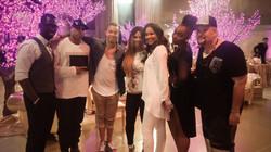 DJ Ridd with Lil Kim's Family
