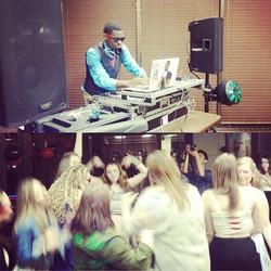DJ Yames Entertaining the crowd