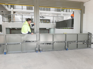 Royal Shores – Hinged Floodgates are installed at three large apartment blocks