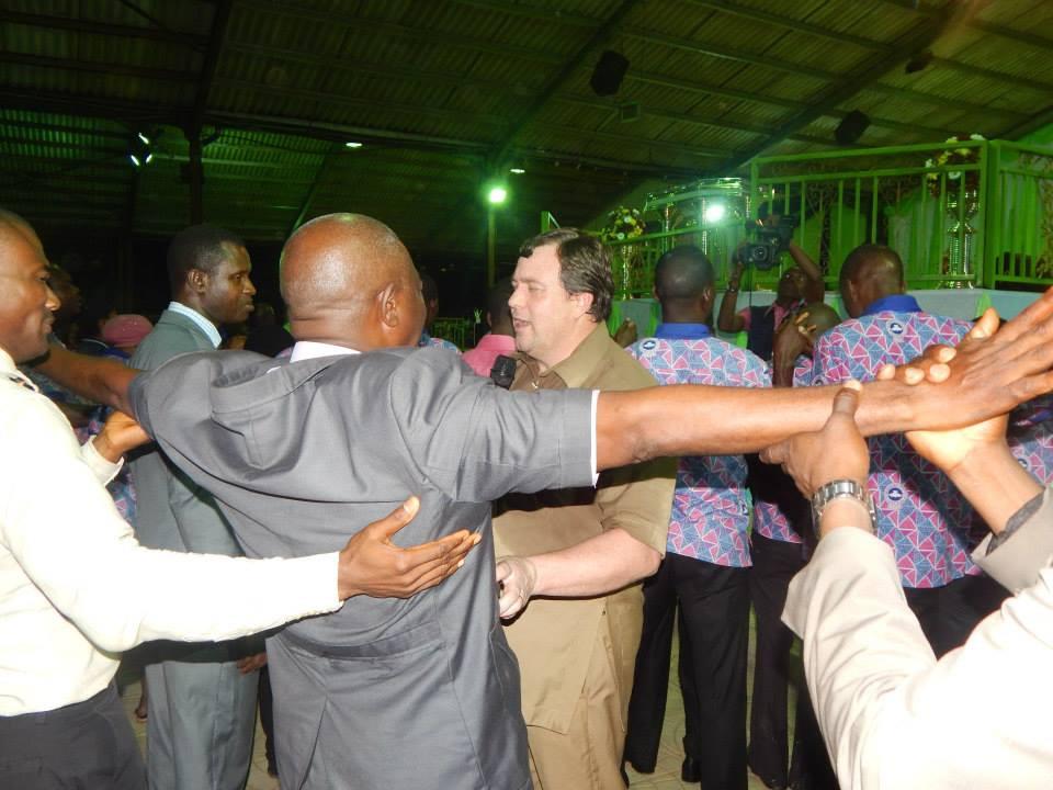 Warren Hunter ministering during a revival meeting - Sword Ministries International