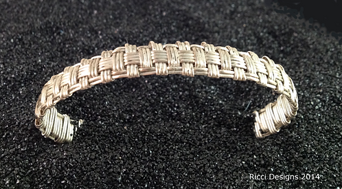 Nickel Silver Basket Weave Bracelet