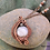 Thumbnail: White & Gray Agate Woven in Copper Pendant
