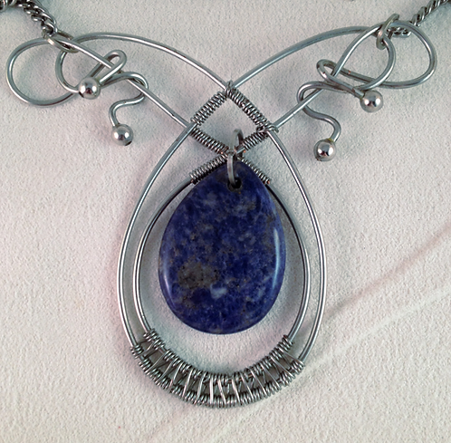 Lapis with Silver Pendant