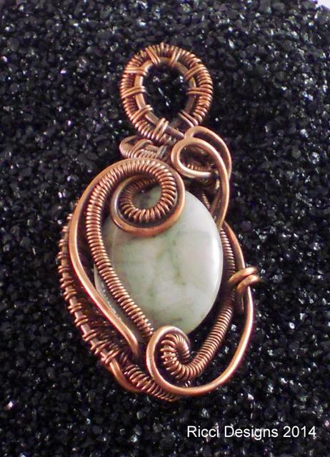 Petite Light Green Jasper Pendant