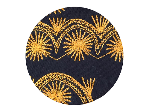 Embroidered Yellow Stars on Black 2