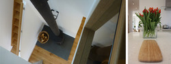 STAIRCASE + KITCHEN