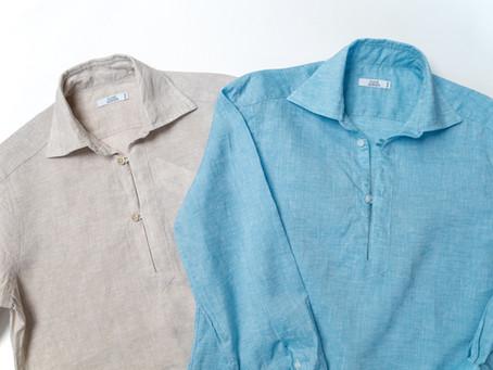 リネンシャツでクール&リラックス