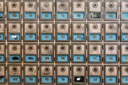 Historic Mailboxes, Sylvania, Georgia, USA