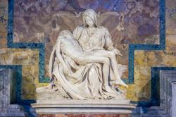 Michelangelo's Pieta, St Peter's Basilica, Rome, Italy