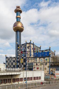 Waste Incineration Plant Spittelau, Vienna, Austria