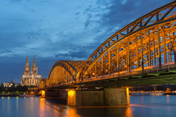 Cathedral and Hohenzollern Bridge, Cologne, Germany