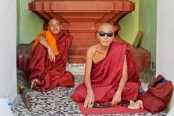 Buddhistic Monks, Shwedagon Pagoda, Yangon, Myanmar