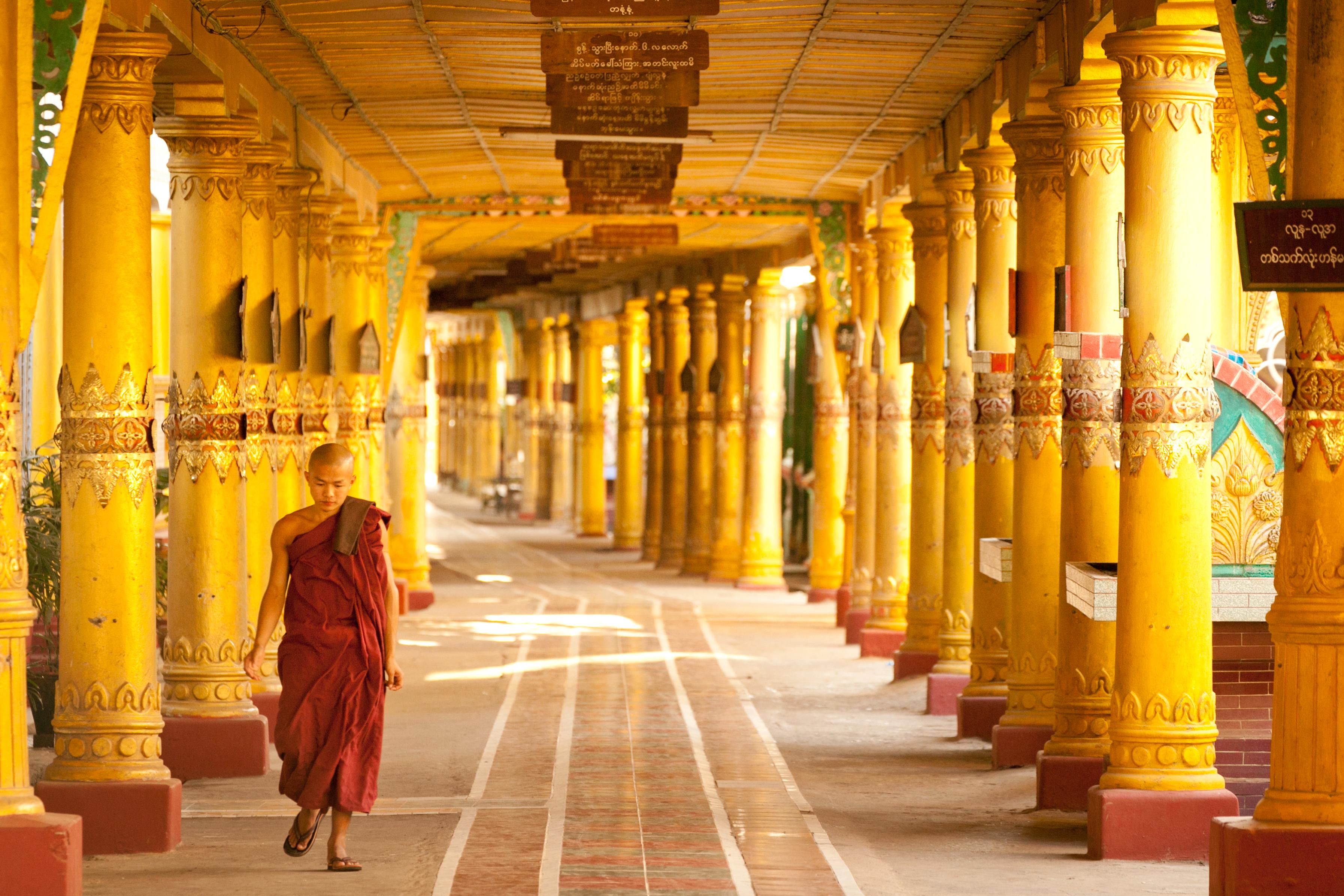 Buddhistic Kidmonk in Monastery, Bago, Myanmar