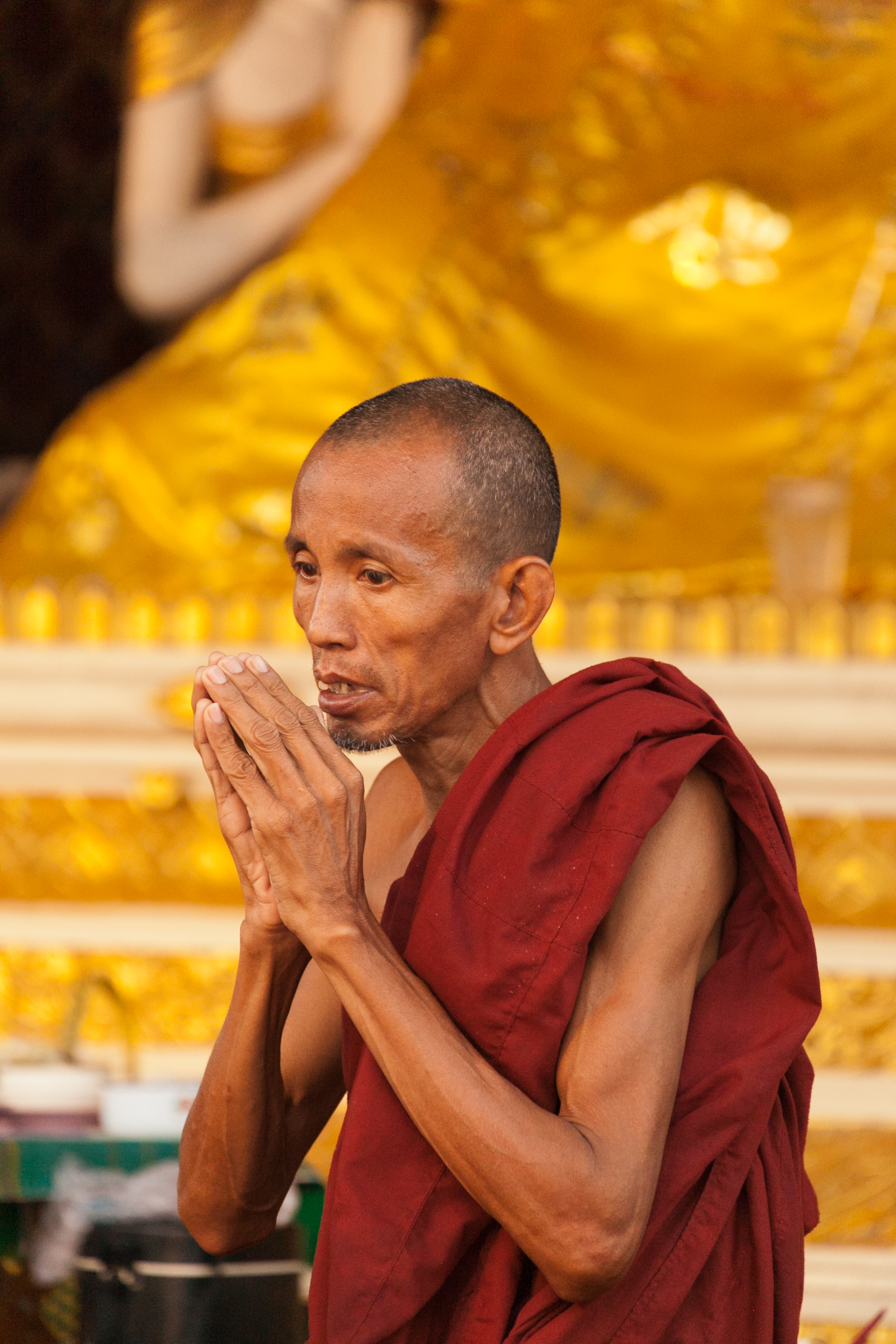 Buddhistic Monk, Shwedagon Pagoda, Yangon, Myanmar