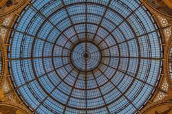 Dome in Galleria Vittorio Emanuele II, Milan, Italy