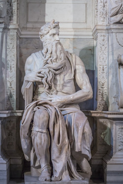 Michelangelo's Moses, San Pietro in Vincoli, Rome, Italy