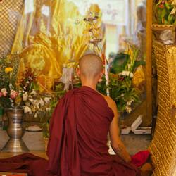 Buddhistic Kidmonk, Shwedagon Pagoda, Yangon, Myanmar