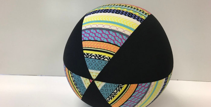 Balloon Ball - Yellow Aztec with Black Panels