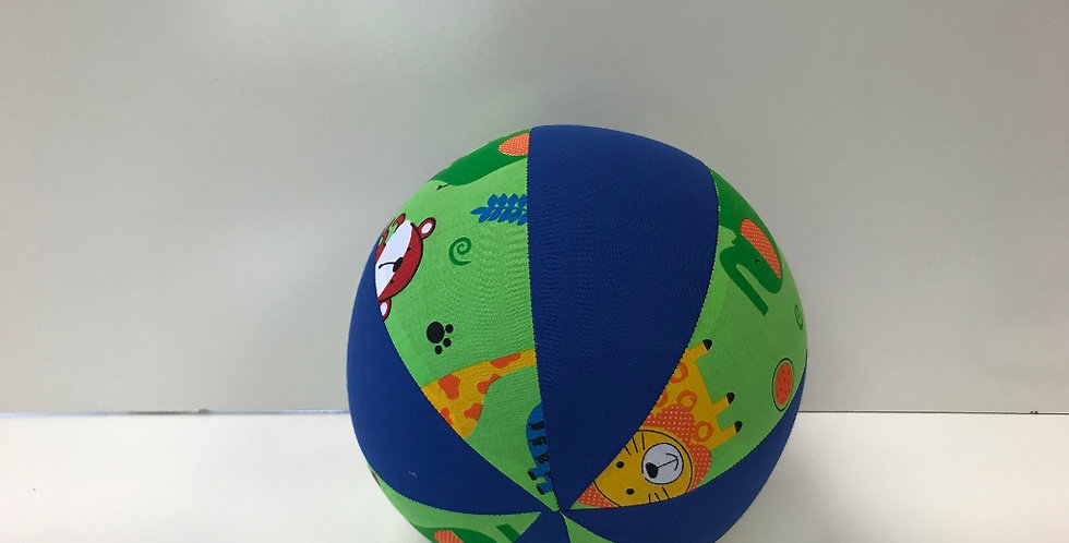 Balloon Ball Medium - Baby Zoo Animals with Blue Panels