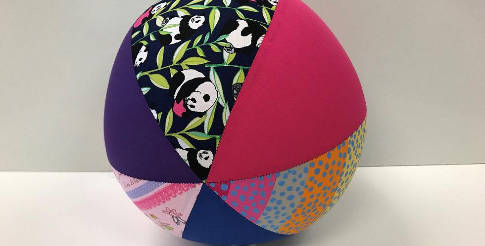 Balloon Ball Large - Ballerinas Pandas Freckles with Pink Purple Blue Panels