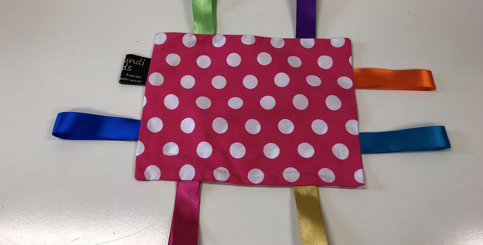 Taggie Cloth - Hot Pink with White Dots