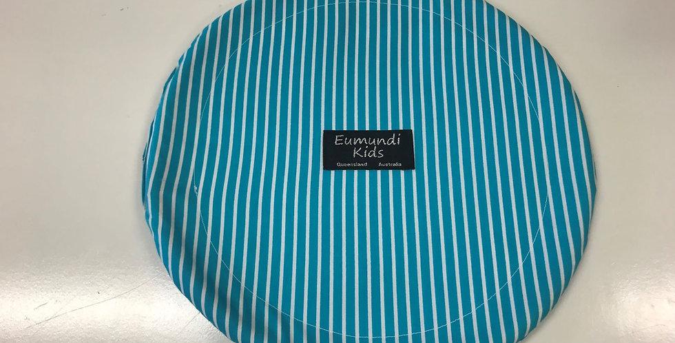Frisbee - Aqua White Stripes