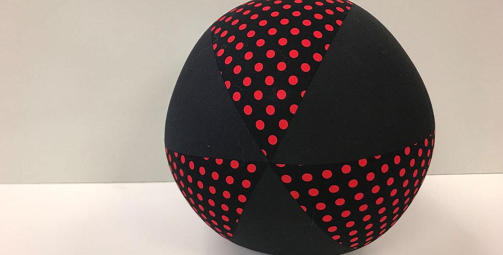 Balloon Ball - Black Red Dots Black Panels