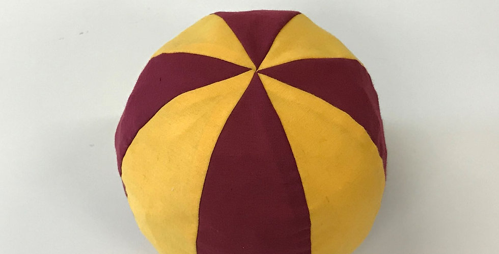 Crackle Ball - Maroon & Gold