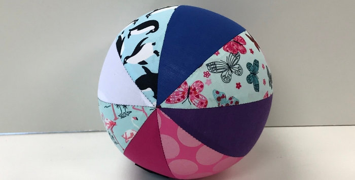 Balloon Ball Small - Penguins Butterflies Flamingos Dots -Purple Pink Blue White