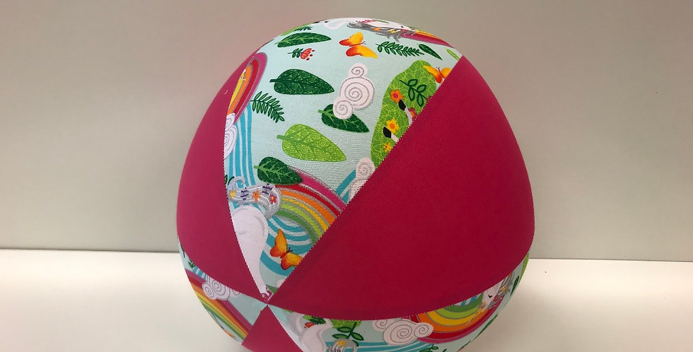 Balloon Ball - Unicorns and Rainbows Hot Pink Panels
