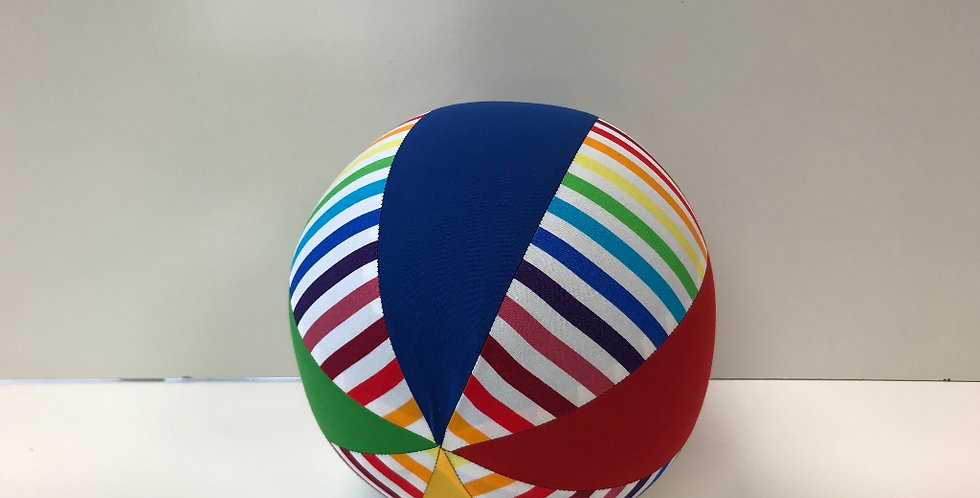 Balloon Ball Medium - Rainbow Stripes - Red Blue Green Yellow Panels