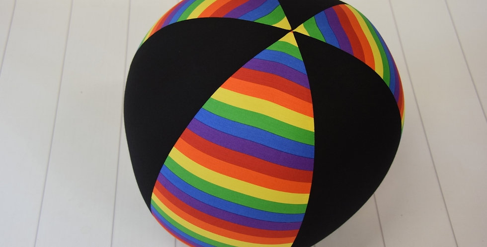 Beach Ball - Solid Rainbow with Black Panels