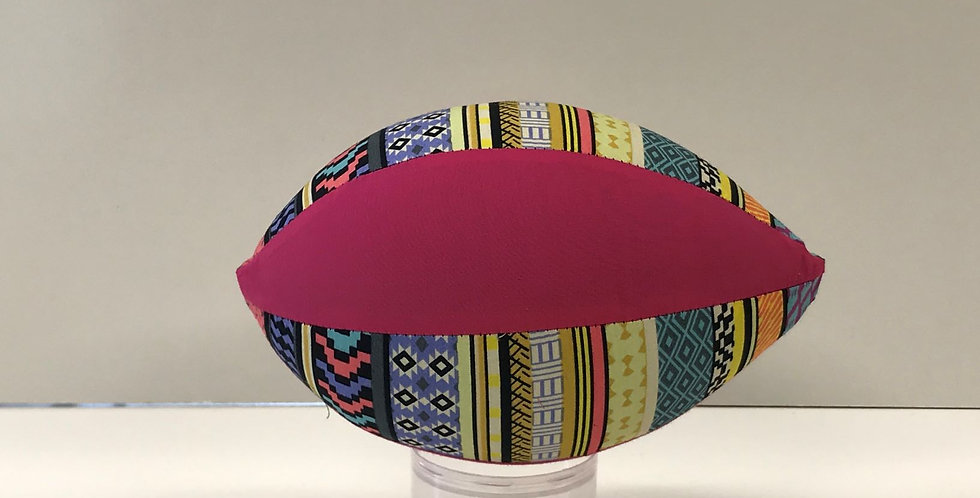 Balloon Football Small - Aztec Print with Hot Pink Panels