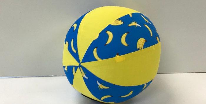 Balloon Ball Small - Bananas on Blue with Yellow Panels
