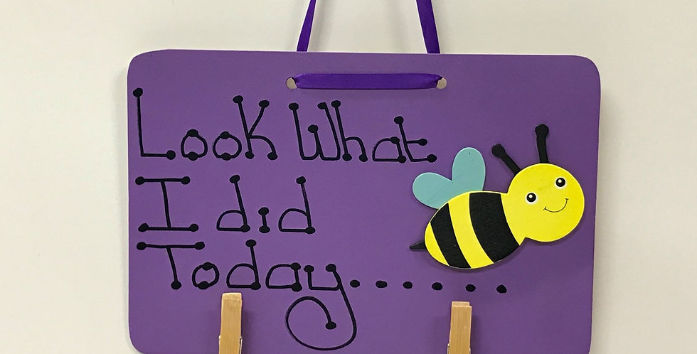Bumble Bee - Purple Board - Purple Ribbon