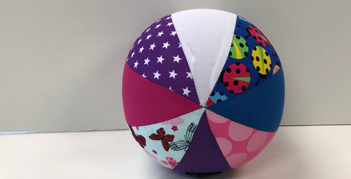 Balloon Ball Small - Bugs Butterflies Dots Stars - Pink Purple Blue White