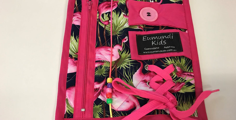 Busy Fingers - Pink with Flamingos