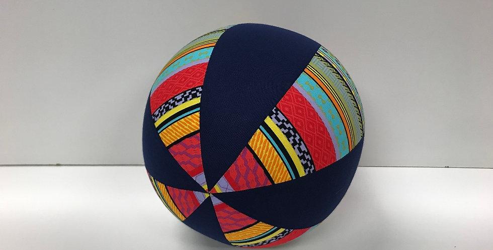 Balloon Ball Medium - Bright Aztec with Navy Panels
