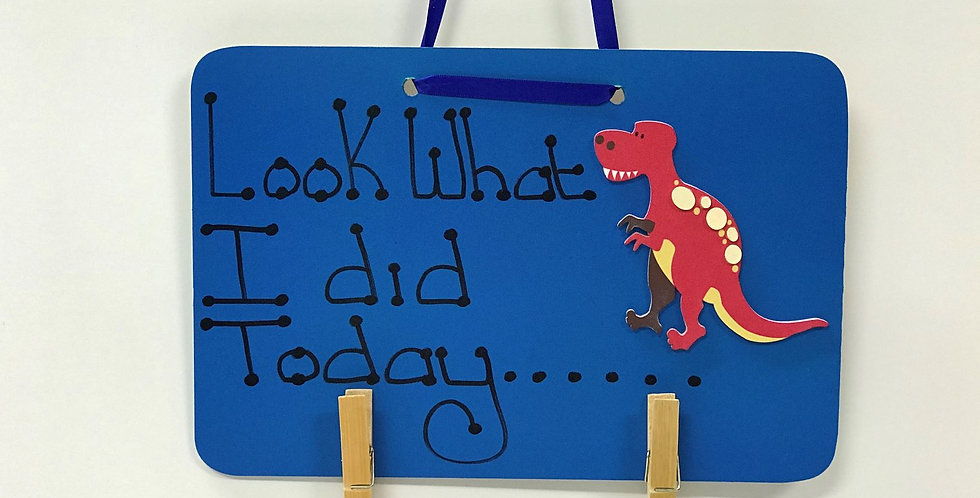 Red Dinosaur - Blue Board - Blue Ribbon