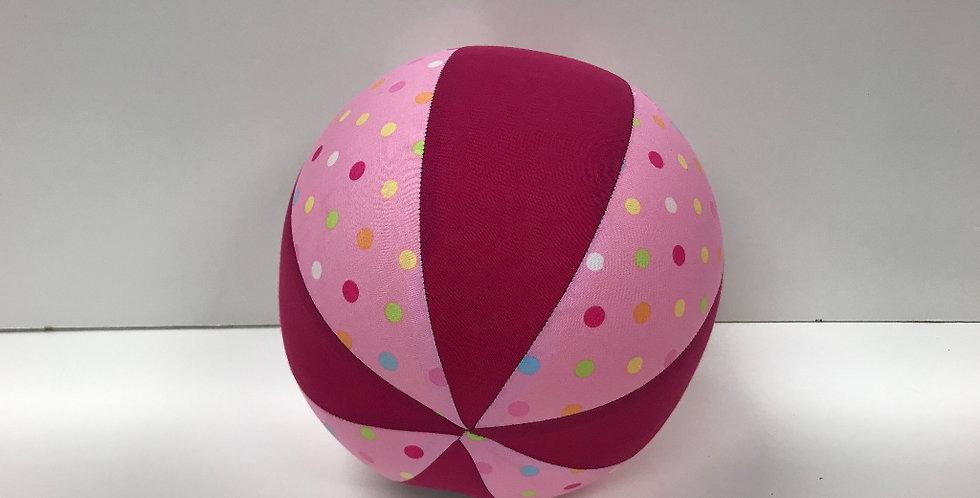 Balloon Ball Medium - Coloured Confetti Dots with Hot Pink Panels