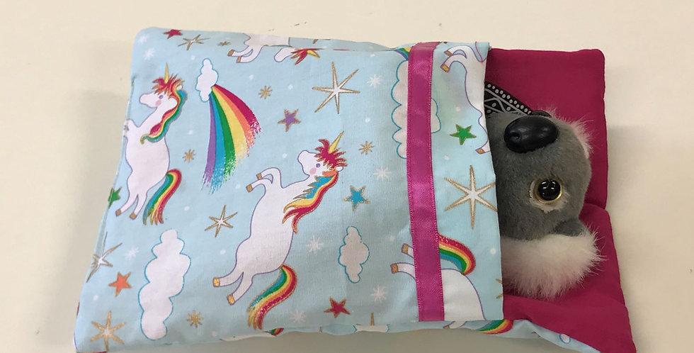 Aussie Swag Sleeping Bag - Unicorns with Hot Pink Sheet