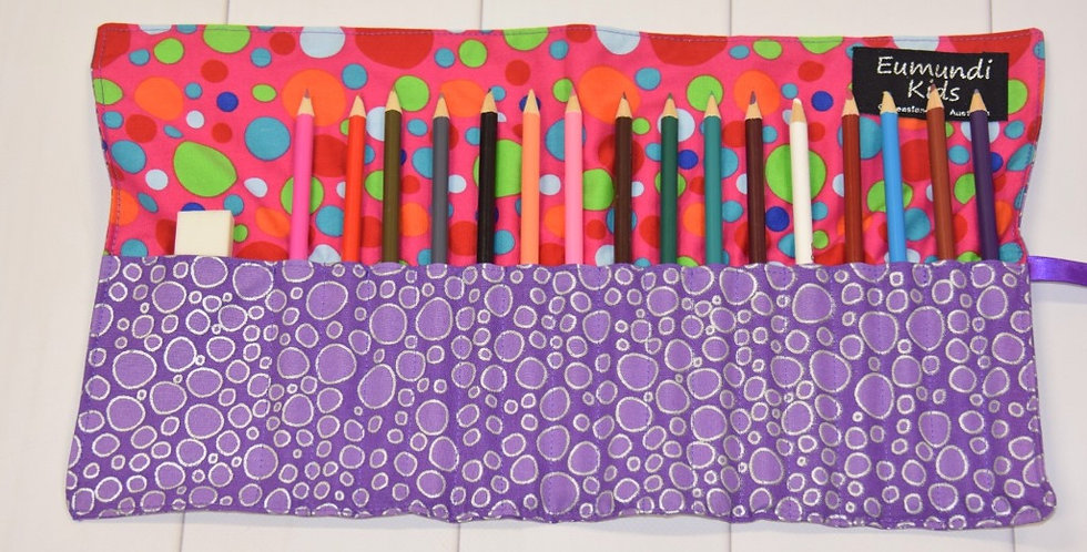 Purple Dots with Pink Multi Coloured Dots