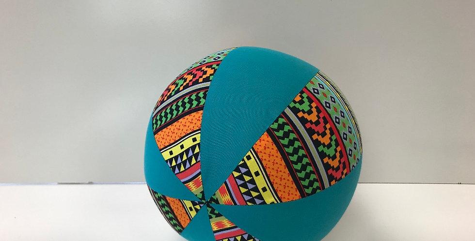 Balloon Ball Medium - Bright Aztec with Teal Panels