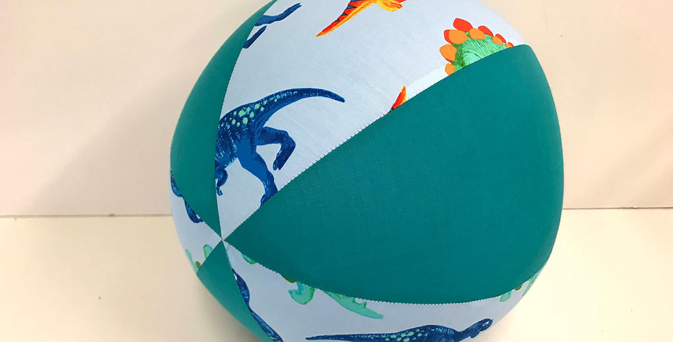 Balloon Ball -Dinosaurs - Teal Panels