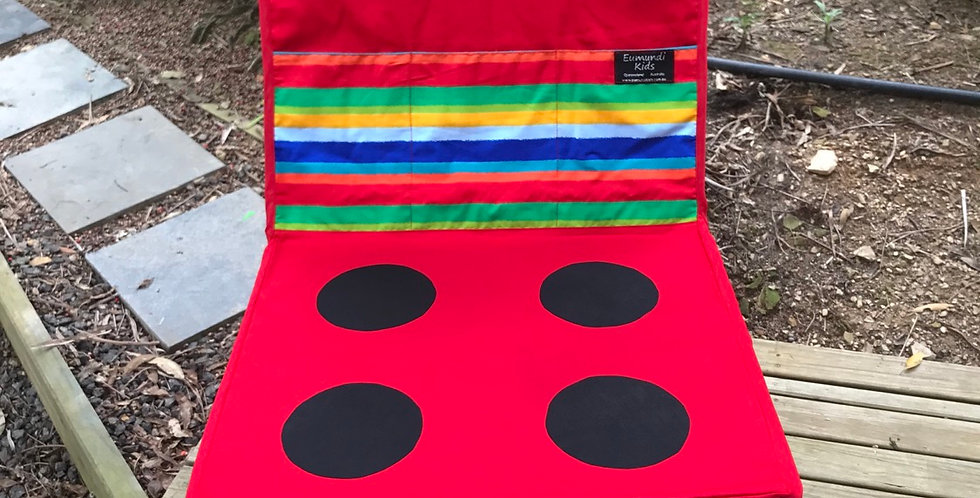 Kids Travel Oven - Red Oven - Rainbow Stripes