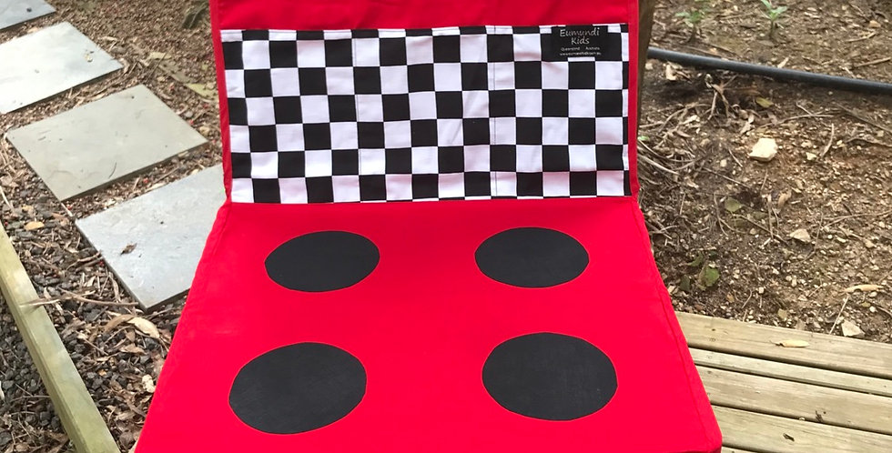 Kids Travel Oven - Red Oven with Black White Check
