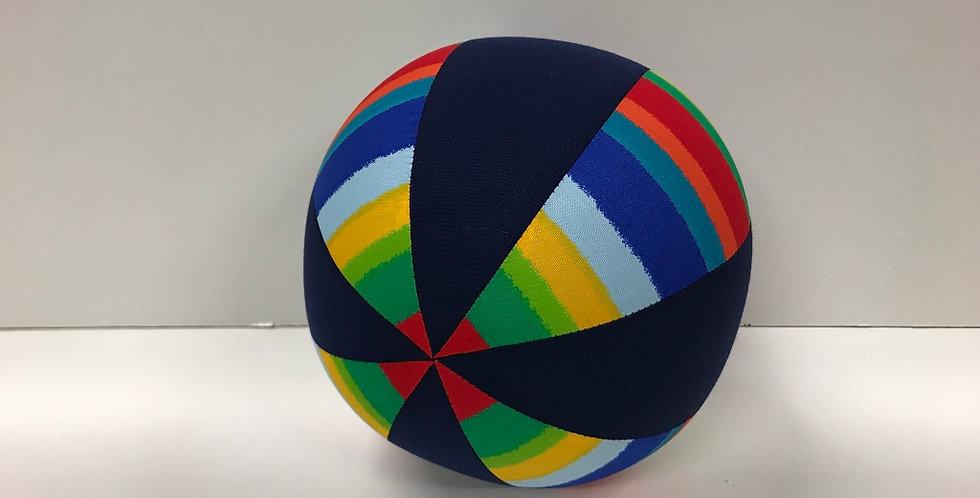 Balloon Ball Medium - Solid Rainbow - Navy Panels