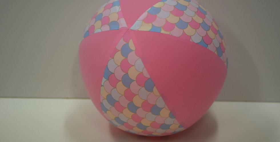 Balloon Ball - Mermaid Scales Pastel -  Ice Pink Panels