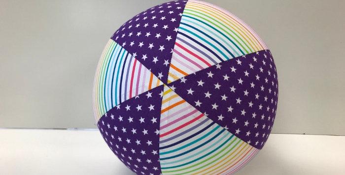 Balloon Ball - Purple White Stars with Rainbow Stripes
